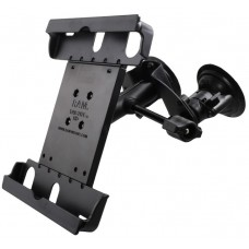 Dual Articulating Suction Cup EFB Mount with Arm & Retention Knob, & Large Tab-Tite™ Tablet Holder